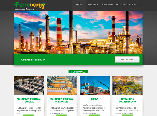 Desarrollo web ferrenergy
