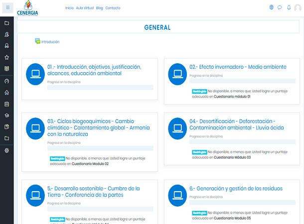Aula Virtual Moodle para CENERGIA desarrollado por grupo de soluciones creativas