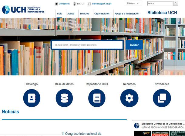Web Administrable - Biblioteca Universidad de Ciencias y Humanidades realizado por gscreativas