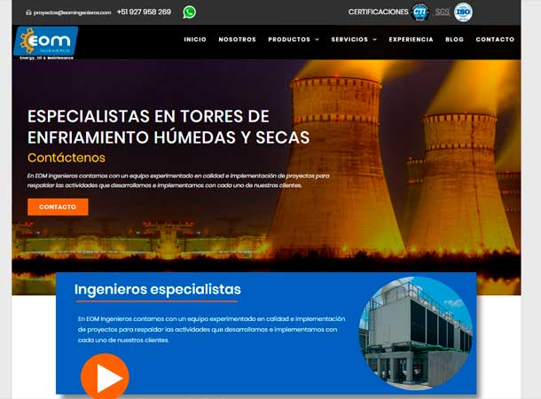 Desarrollo web eom ingenieros por gscreativas