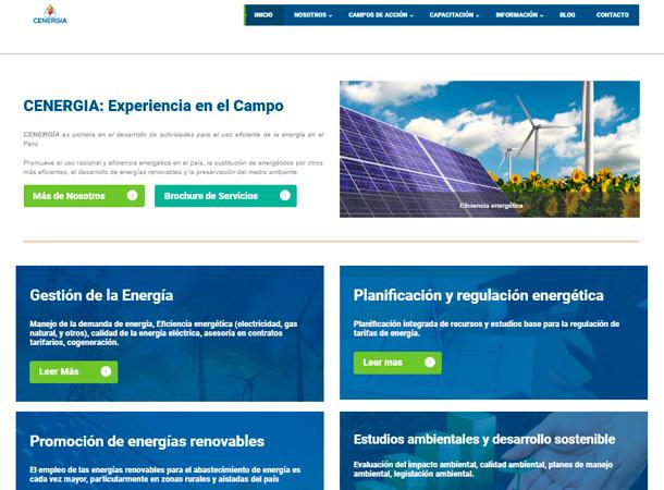 Diseño Web Administrable CENERGIA desarrollado por grupo de soluciones creativas