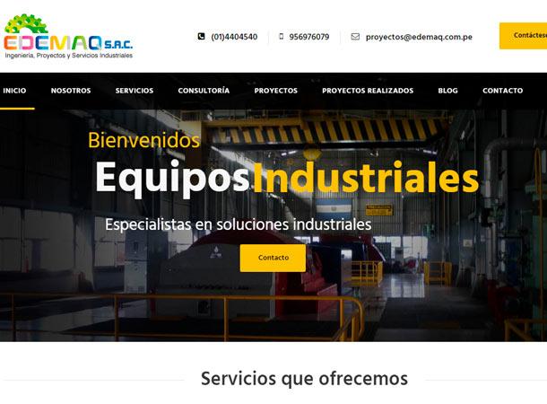 Diseño Web EDEMAQ REALIZADO POR GSCREATIVAS