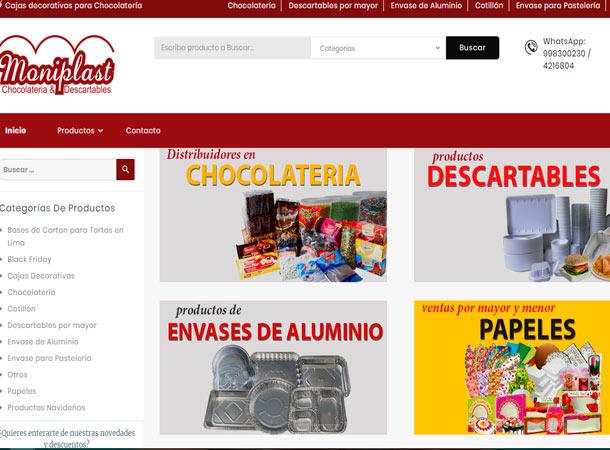 Diseño Web Administrable MONIPLAST realizado por grupo de soluciones creativas